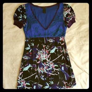 Blacklight reactive!! Custo Barcelona tunic dress